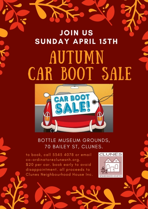 autumn CAR BOOT SALE