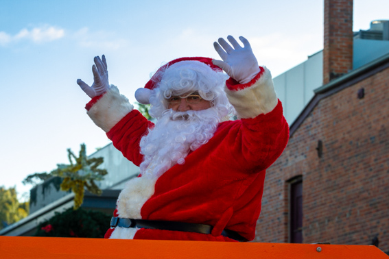 Even Santa volunteers with the Neighbourhood House on special occasions such as our Christmas Street Parade.